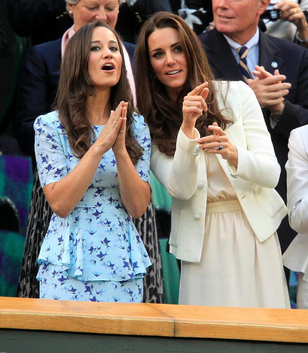 Pippa and Kate Middleton at Wimbledon