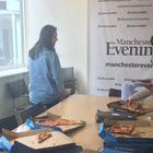 The Boston Globe reached out to the Manchester Evening News with a gift. Pic: MEN / Twitter