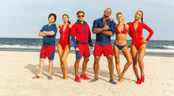 Search and rescue: It's all sea, sand and snug swimwear for the Baywatch crew