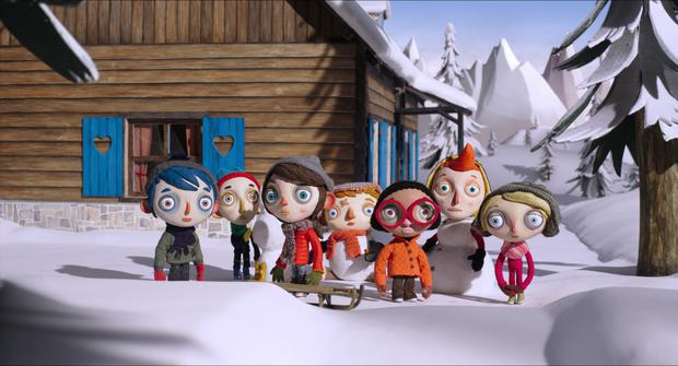 Snow business: An alpine ski trip is beautifully rendered in the animated film, My Life as a Courgette