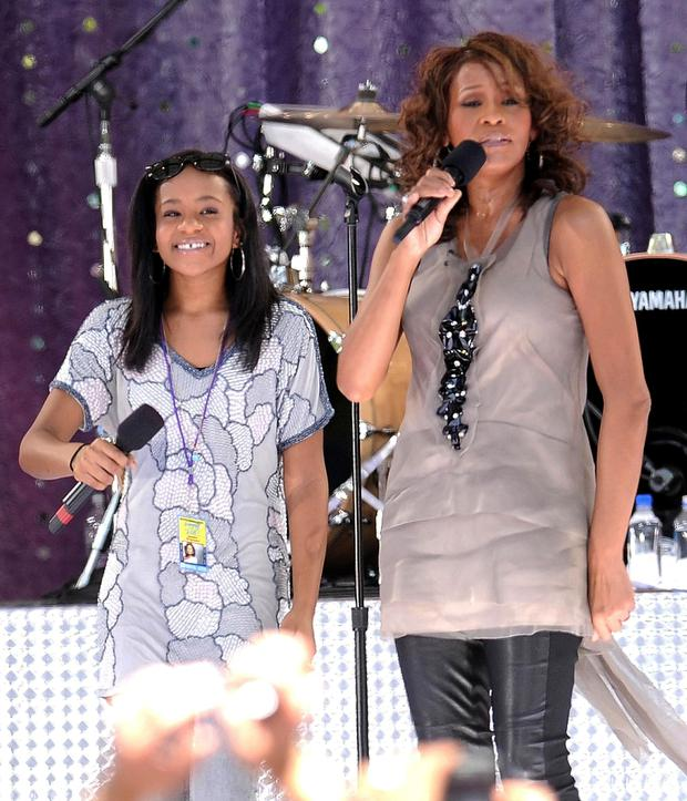 Whitney with daughter Bobbi Kristina