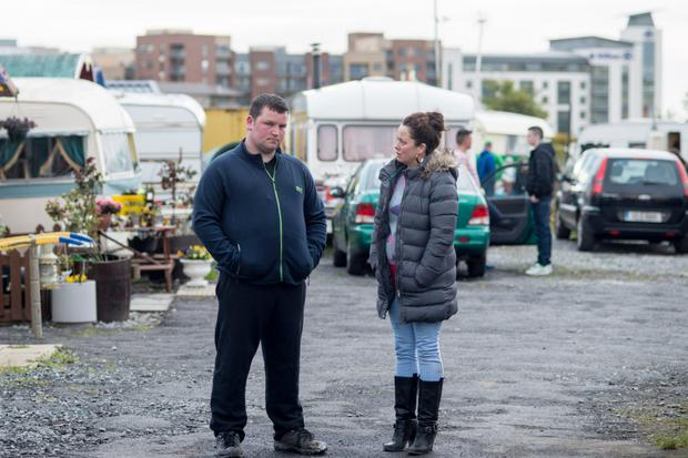 On the set: John as Patrick with Neili Conroy as Kitty in Love/Hate