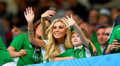 Claudine and Robert Keane supporting Robbie at last summer's European Championships