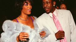 Whitney with her husband Bobby Brown