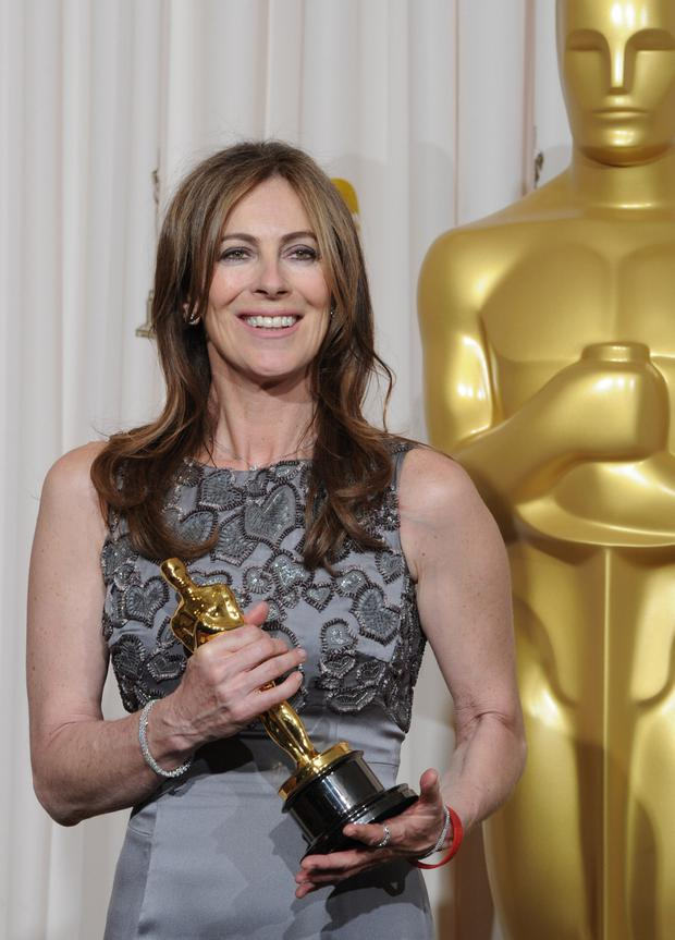 Kathryn Bigelow celebrates winning the best director Oscar in 2010 for her film Hurt Locker