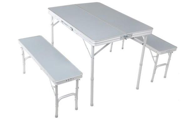 Urban Escape's fold-able table and Bench Set priced at €48.00 at Halfords