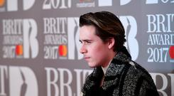Brooklyn Beckham attending this year's Brit Awards (Ian West/PA).