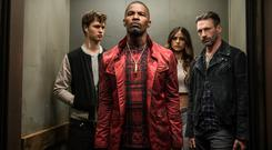 Revved up: From l-r, Baby (Ansel Elgort), Bats (Jamie Foxx), Darling (Eiza Gonzalez ) and Buddy (Jon Hamm) in Baby Drive