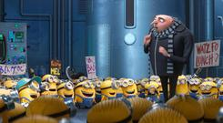 One in a minion: Gru played by Steve Carell and his comic sidekicks