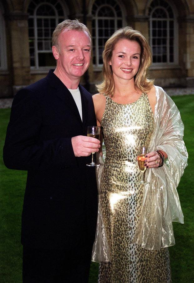 Les Dennis with ex-wife Amanda Holden