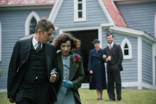 Huge demands: Ethan Hawke and Sally Hawkins in Maudie. Above: