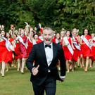Run Dáithí, run: Ó Sé at theRose of Tralee launch where he met all 64 hopefuls for the first time. The festival will broadcast on Monday and Tuesday. Photo: Andres Poveda