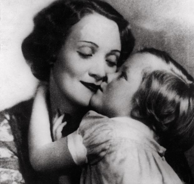 Marlene Dietrich with her daughter Maria in 1928. Photo: Imagno/Getty