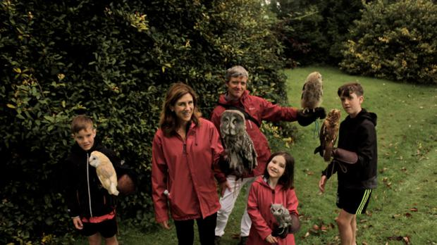 Emily and family at Killarney Falconry