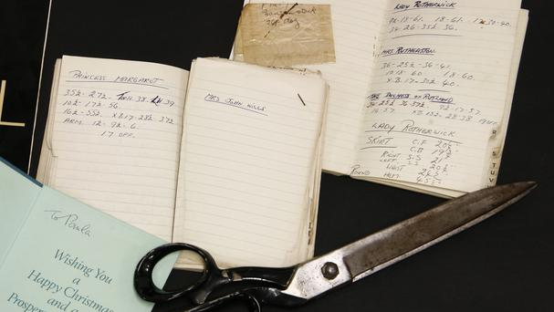 Notebooks being sold at auction (Sworders Fine Art Auctioneers)