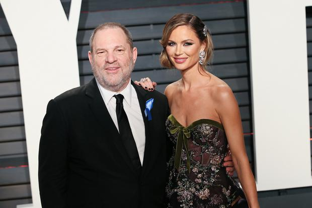Harvey Weinstein with Georgina Chapman. Photo: Getty