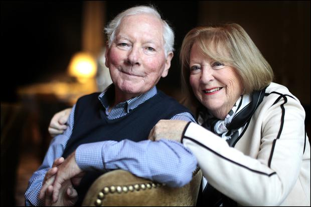 Gay Byrne and Kathleen Watkins. Photo: David Conachy