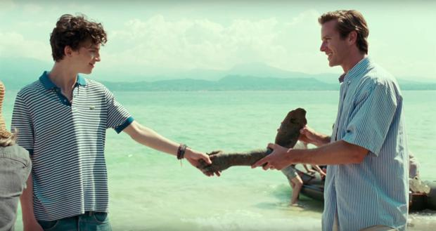 Great shakes: Timothee Chamalet and Armie Hammer in Call Me By Your Name