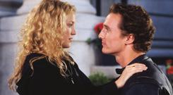 No looking back: Kate Hudson tried a few classic tricks to force Matthew McConaughey to dump her in How to Lose a Guy in 10 Days