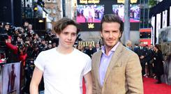 Brooklyn Beckham and David Beckham