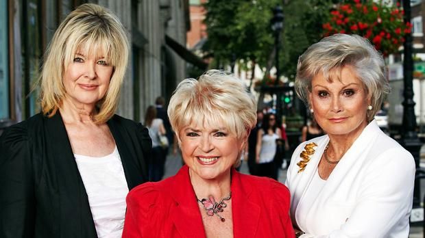 Gloria with 'Rip Off Britain' co-hosts Angela Rippon and Julia Somerville