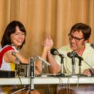 Serving up a treat: Emma Stone andSteve Carell in Battle of the Sexes