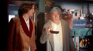 Festive treat: Dan Stevens as Charles Dickens and Christopher Plummer as Ebenezer Scrooge in The Man Who Invented Christmas