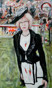 Sabina Coyne Higgins at the Races by Valerie Walsh,