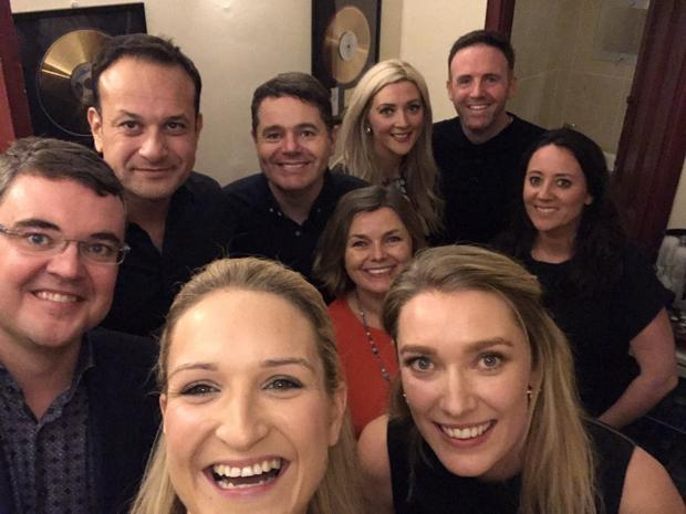 Leo Varadkar and Fine Gael pals take a selfie at that LCD Soundsystem gig