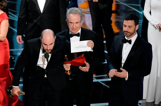 The Best Picture blunder at the Oscars. Photo: 2017 Getty Images