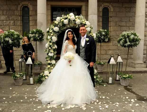 Suzanne Jackson on her wedding day to Dylan O'Connor