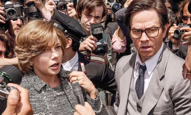 Gail Harris and Mark Wahlberg in All The Money In The World
