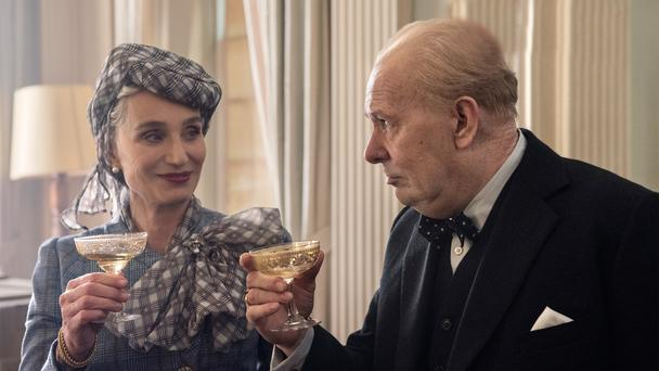 Kristin Scott Thomas and Gary Oldman as Clementine and Winston Churchill in Darkest Hour