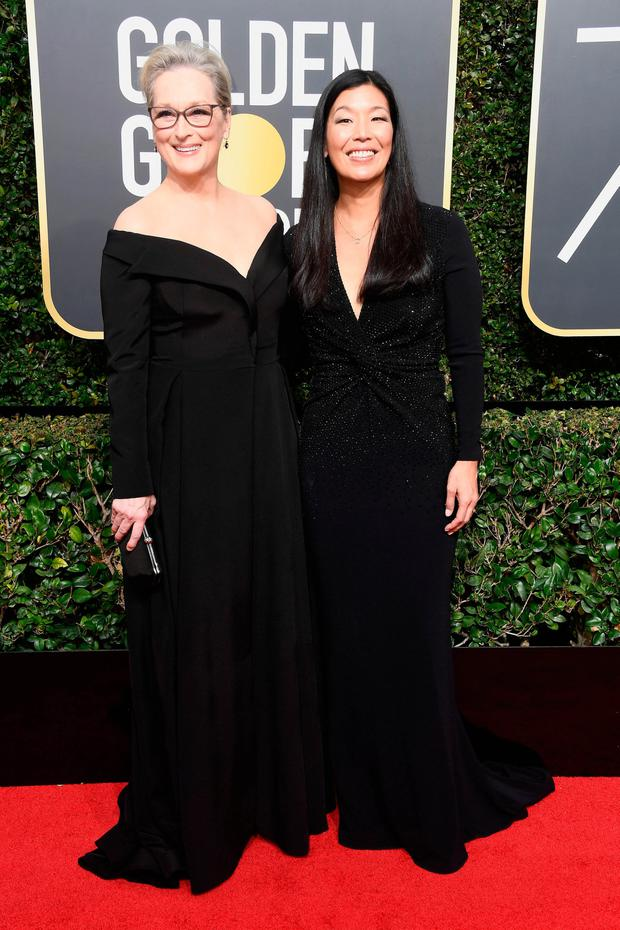 Actor Meryl Streep (L) and NDWA Director Ai-jen Poo. Photo Getty Images