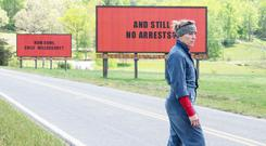 Poster girl: Frances McDormand rents billboards to make her point to the sheriff of Ebbing