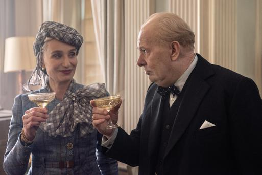 Cometh the Hour: Kristin Scott Thomas and Gary Oldman as Clementine and Winston Churchill
