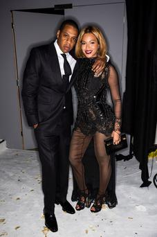 Jay Z and singer Beyonce attend the TOM FORD Autumn/Winter 2015 Womenswear Collection Presentation