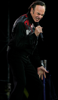 Sparkling form: Neil Diamond won't be thrilling audiences with his live show anymore. Photo: Steve Humphries