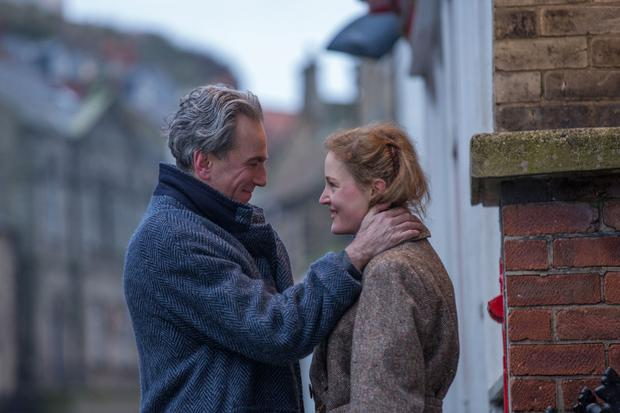 Perfectionist: Day-Lewis, seen here opposite Vicky Krieps in Phantom Thread, quit theatre work in 1989 after suffering a nervous breakdown