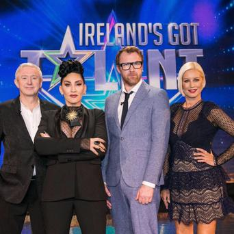 Sitting in judgment: Louis Walsh, Michelle Visage, Jason Byrne and Denise Van Outen