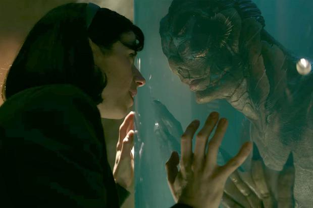 I'm in love with the shape of you: Sally Hawkins plays mute cleaner Elisa who falls for a humanoid amphibian creature (Doug Jones)