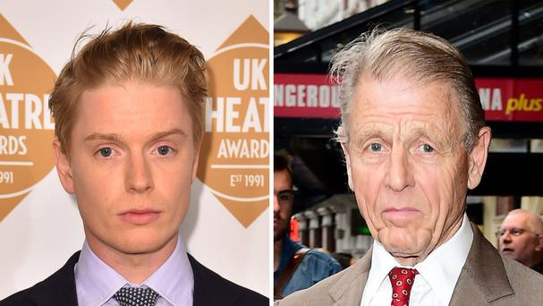 Freddie and Edward Fox will play a fictional father and son (PA)