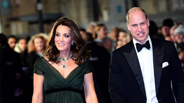 The Duke and Duchess of Cambridge attending the EE British Academy Film Awards held at the Royal Albert Hall (Ian West/PA)