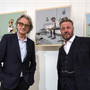 Pete McKee with designer Paul Smith