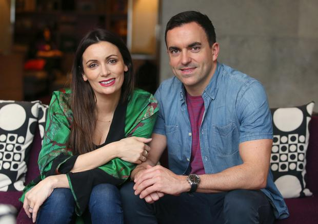 There is only 15 months between siblings Kevin and Louise Duffy. Photo: Damien Eagers