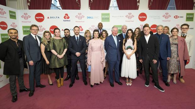 The Prince of Wales with celebrity ambassadors (Geoff Pugh/The Daily Telegraph/PA)