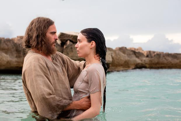 Biblical role: Rooney as Mary Magdalene and Joaquin Phoenix as Jesus