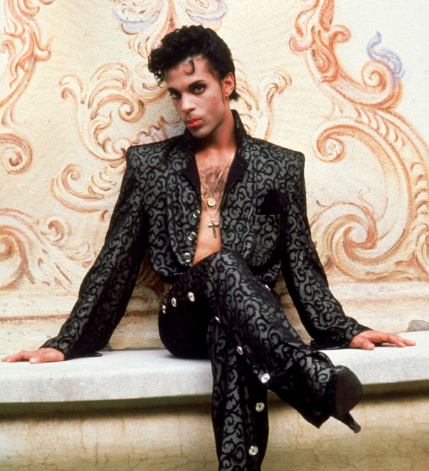 Androgynous: Prince's two piece Devoré costume worn in the 1986 film Under the Cherry Moon is included in the exhibition