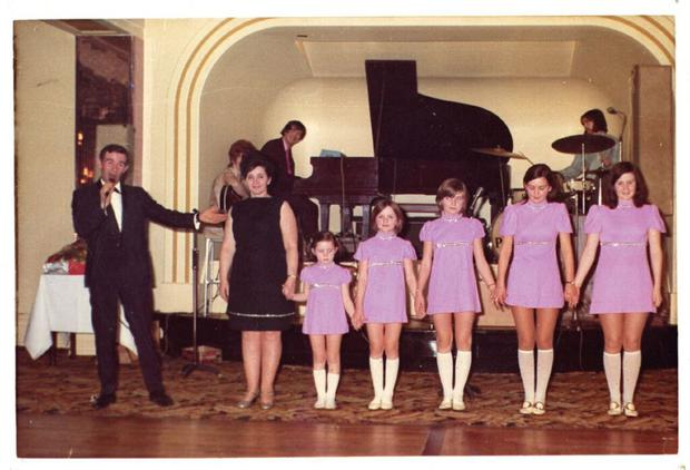 Dad Tommy, Mum Maureen, Coleen, Bernie, Linda, Maureen and Denise performing 'Thank Heaven for Little Girls' in Blackpool