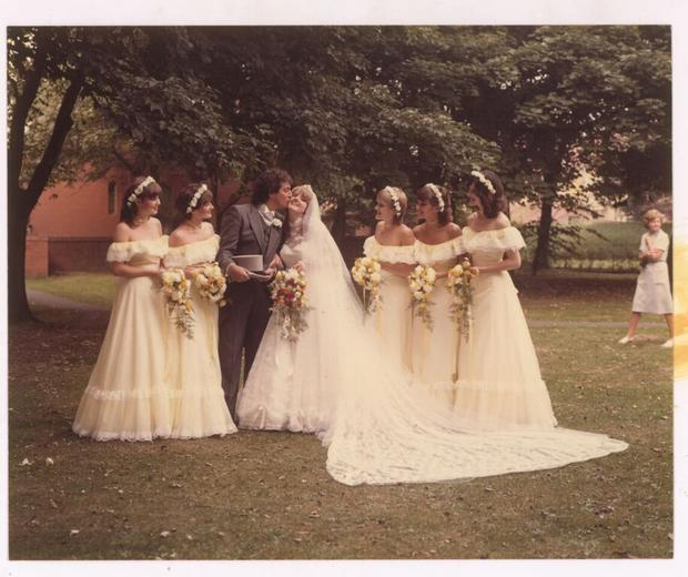 Linda and Brian's wedding day in 1981